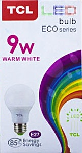 TCL Led Warm White 9w - 1's