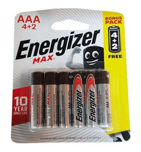 Energizer Battery Max AAA 4+2 Free