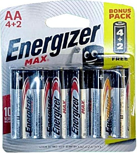 Energizer Battery Max AA 4+2 Free