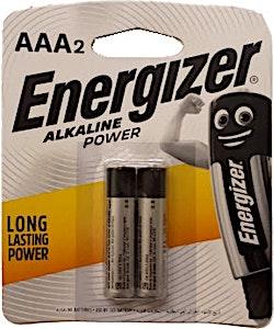 Energizer Battery Alkaline AAA 2's