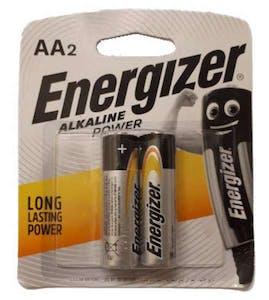 Energizer Battery Alkaline AA 2's