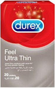 Durex Condoms Feel Ultra Thin 20's