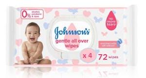 Johnson's Baby Wipes Gentle 72's - 2 + 2 Free