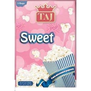 Taj Microwave Popcorn Sweet 3 Bags 240 g