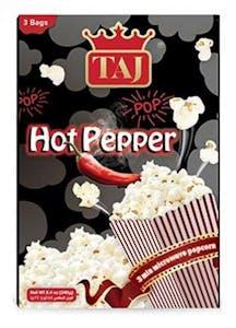 Taj Microwave Popcorn Hot Pepper 3 Bags 240 g
