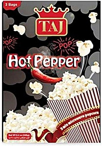 Taj Microwave Popcorn Hot Pepper 3 Bags 240 g