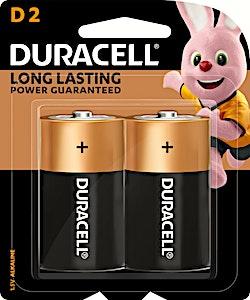 Duracell Battery D2 - 2's