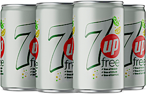 Diet 7up Can 185 ml - Pack of 6