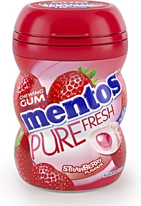 Mentos Pure Fresh Strawberry Chewing Gum 10's