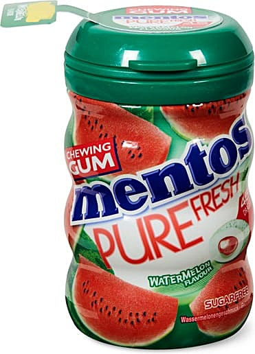 Mentos Pure Fresh Watermelon Chewing Gum 10's