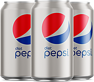 Diet Pepsi Can 330 ml - Pack of 4