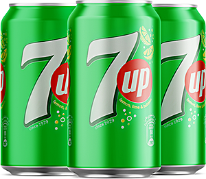 7up Can 330 ml - Pack of 4