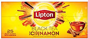 Lipton Black Tea With Cinnamon Bags 25's