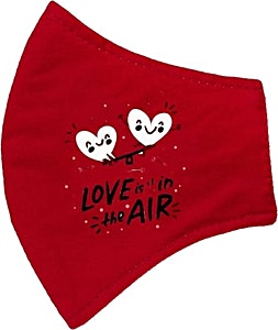 Red Love is in the Air Adult Washable Mask