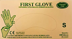 First Gloves Powder Free Small  - 100 Pcs