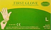 First Gloves Powdered Large  - 100 Pcs