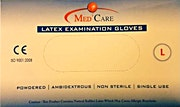 MedCare Latex Gloves Powdered Large - 100 Pcs