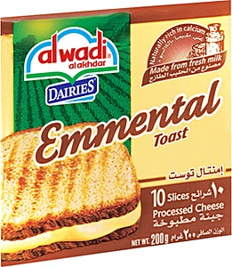 Alwadi Alakhdar Emmental Slices 200 g