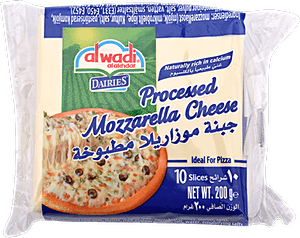 Alwadi Alakhdar Mozzarella Cheese Slices 200 g