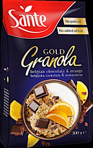 Sante Gold Granola Belgian Chocolate & Orange 300 g