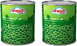 Alwadi Alakhdar Fine Green Peas 2 x 400 g 20% Off