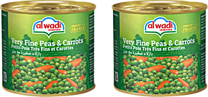 Alwadi Alakhdar Very Fine Peas & Carrots 2 x 400 g 20% Off