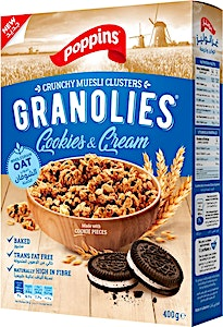 Poppins Granolies Cookies & Creams 50 g