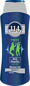 114 Men Shower Gel Body & Hair Night 750 ml