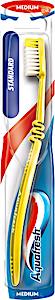 Aquafresh Standard Toothbrush Yellow Medium 1's