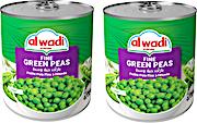 Al Wadi Al Akhdar Fine Green Peas 2 x 400 g 20% OFF