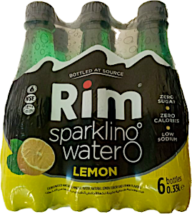 Rim Sparkling Water Lemon 0.33 L - Pack of 6