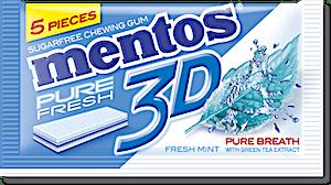 Mentos Gum 3D Fresh Mint 8.5 g