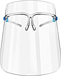 Adult Face Shield With Eyeglasses