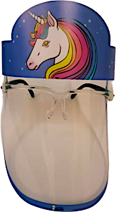 Kids Face Mask Unicorn With Eyeglasses