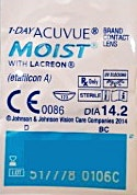 Acuvue 1-Day Moist Contact Lenses D-7.50 1's