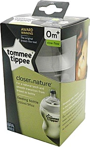 Tommee Tippee Feeding Bottle Closer To Nature 0m+ White 260 ml