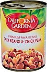 California Garden Fava Beans & Chick Peas 400 g