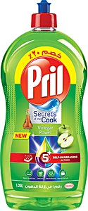 Pril 5+ Apple 1.25 L Self-Degreasing Action @20%OFF