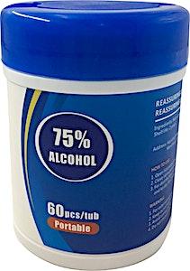 Wipes Alcohol Sterilized 60 pcs/tub
