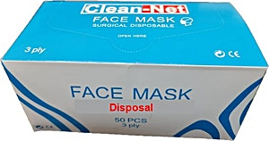Face Mask Surgical Nylon Disposable 3 ply 50's