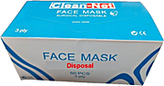 Face Mask Medical Disposable 3 ply 50's