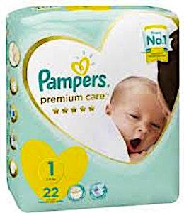 Pampers Premium Care 1 22's