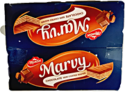 Marvy Chocolate Semi Coated Wafer 336 g - Pack of 12