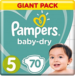 Pampers Dry Diapers Size 5 70's