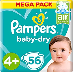 Pampers Jumbo Pack 4+ 56's