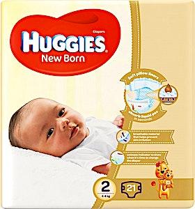 Huggies New Born 2 (4-6kg) 21's