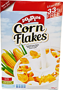 Poppins Corn Flakes 500 g @33% OFF