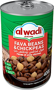 Al Wadi Al Akhdar Fava Beans with Chick Peas 400 g