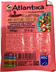 Atlantika Surimi Sticks 100 g