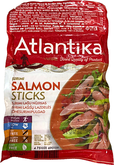 Atlantika Surimi Salmon Sticks 250 g